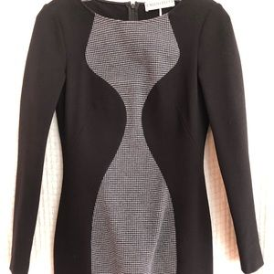 Emilio Pucci black dress with houndstooth detail